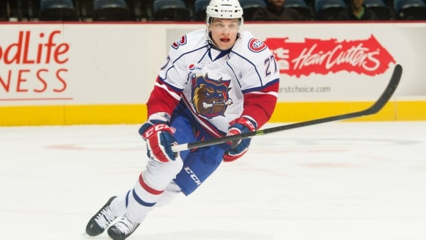 Hamilton Bulldog rookie Sven Andrighetto has been helping the Montreal Canadiens players stay sharp while preparing for the Boston Bruins in round two of the NHL playoffs.