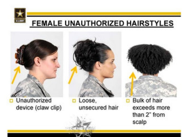 The Pentagon's new target: hairstyles worn by black women