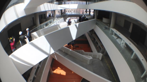 A view of the interior of the new Halifax Central Library.