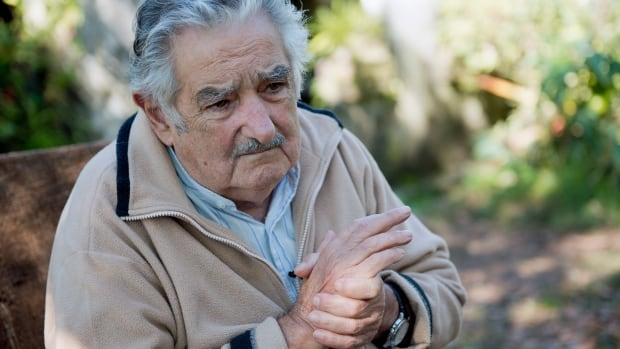 Uruguay's President Jose Mujica pauses during an interview at his home on the outskirts of Montevideo, Uruguay. Mujica says the country's legal marijuana market will be much less permissive with drug users.