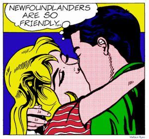 Newfoundlanders Are So Friendly cartoon