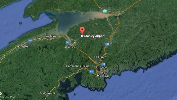 The crash happened at the Stanley Airport, located about 22 kilometres northeast of Windsor Sunday afternoon.