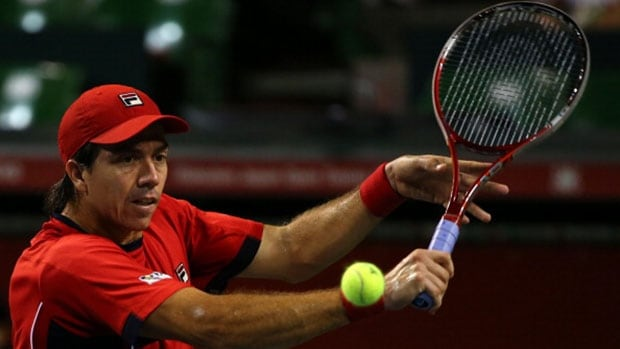 Carlos Berlocq, seen in action at an event last October, beat Tomas Berdych to win the Portugal Open Sunday.