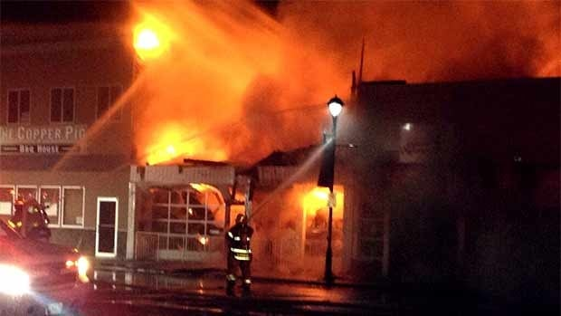 Prince George City Councillor Brian Skakun tweeted this image of the downtown fire.