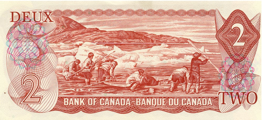 Human Flagpoles': Dark story behind Inuit scene on $2 bill