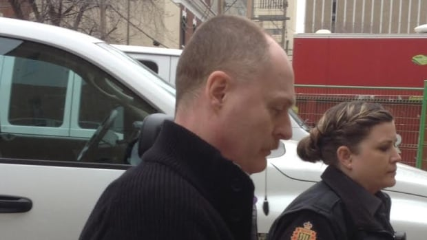 David Woods arriving at court.