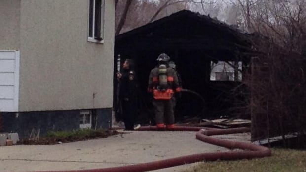 Fire crews responded to a garage fire in the 2900 block of 21st Street West Monday afternoon.