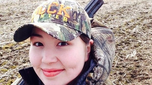 Cassandra Weapenicappo Stephen, a young Cree woman from Eastmain, northern Quebec, is out on the land for the annual spring goose hunt.