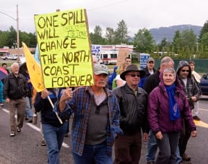 Anti-Enbridge rally, Kitimat, June, 2012