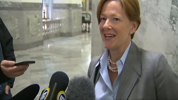 Former premier Alison Redford returned to the Alberta Legislature Monday after a six-week absence.