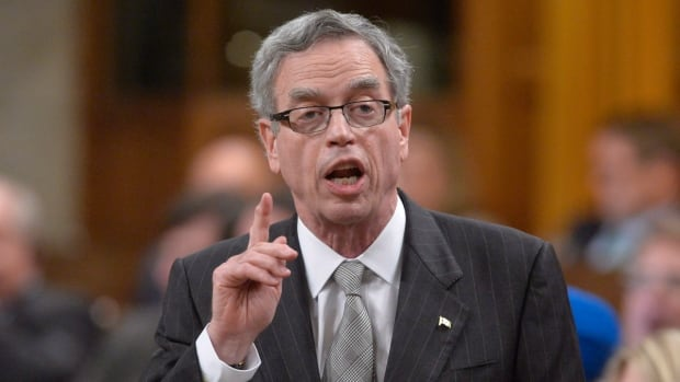 Finance Minister Joe Oliver denies that he has intruded into the Ontario election campaign by making comments about the provincial pension plan that Kathleen Wynne's Liberals are proposing.