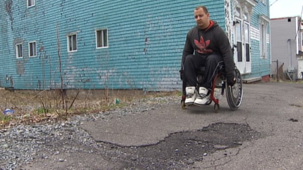 Cody Richards says this is not his first incident with potholes in the city.