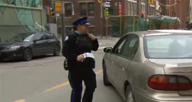 Car eludes parking officer