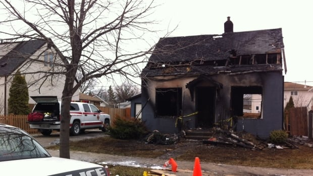 A North Kildonan home went up in flames around 4 a.m. Tuesday in the 200 block of Cheriton Avenue off Henderson Highway.