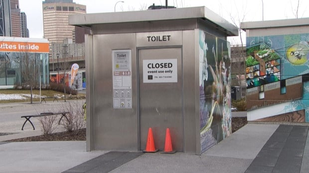 Automated toilets at River Walk Plaza in the East Village are now only available during special events. Drug users had been using the washrooms, police say.