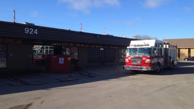Firefighters were called to this Saskatoon strip mall.