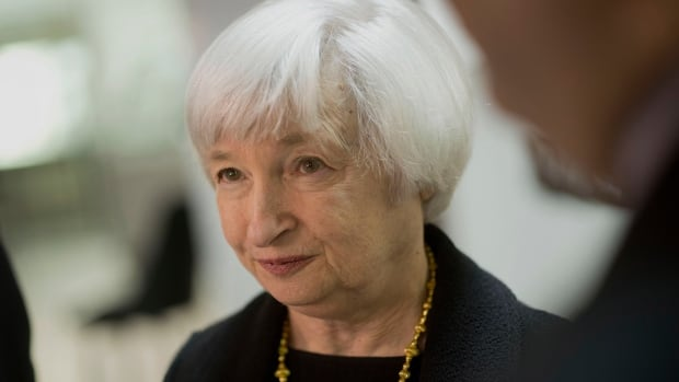 Janet Yellen, chair of the U.S. Federal Reserve, spoke to the IMF today about risks to the financial system. She said regulatory measures could curb risk-taking in financial institutions today.