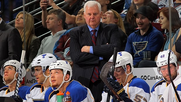 The St. Louis Blues announced on Wednesday that they have extended the contract of Ken Hitchcock, top, who joined the team in 2011.