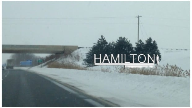 This rendering of the potential Hamilton gateway sign was chosen by the public in an online vote in 2008. The city has put off a decision on the sign until at least next year.