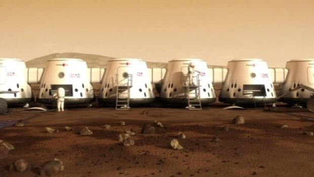 The Mars One human settlement would consist of a group of inflatable life-supporting pods with a roomy 50 square metres of living space per person.