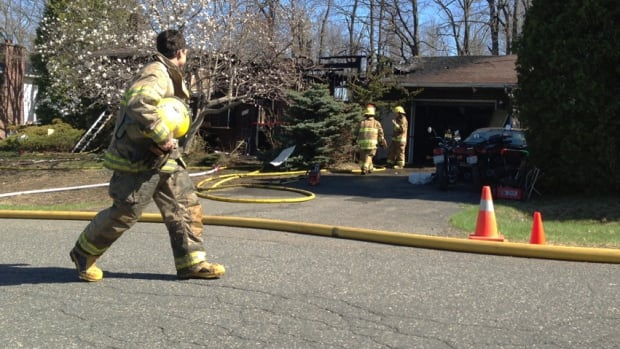 Firefighters found the man's body in a home on Comtois Street this morning.