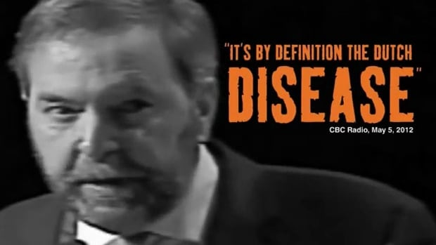 A screenshot of an ad produced by the Conservative Party against NDP Leader Tom Mulcair. The Conservatives launched the ad online within weeks of Mulcair being chosen as leader of the federal NDP in March, 2012.