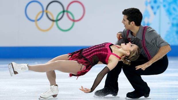 Saskatchewan's Paige Lawrence and Rudi Swiegers, seen Feb. 11, finished 14th in figure skating pairs at the Sochi Olympics.