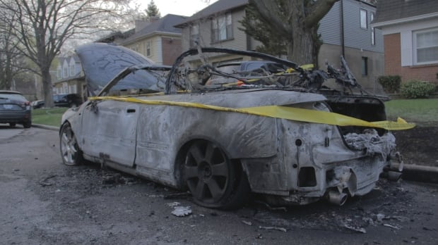 22 Brendan burned car