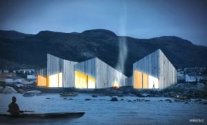 Rendering #2 Torngasok Cultural Centre in Nain