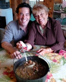 Joseph Boyden and mother