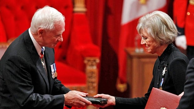 Two institutions: Governor General David Johnston is sworn-in a by Chief Justice Beverley McLachlin in October 2010. She was forced into a rare public defence of her office recently when the PM accused her of trying to have an inappropriate conversation with him.