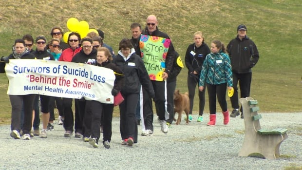 People dealing with a loss due to suicide brought the issue out into the open Saturday with a walk around Quid Vidi Lake in St. John's.