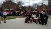 Listuguj First Nation drummers.