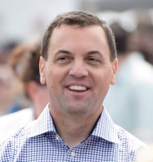 Ontario PC Leader Tim Hudak out on the campaign trail