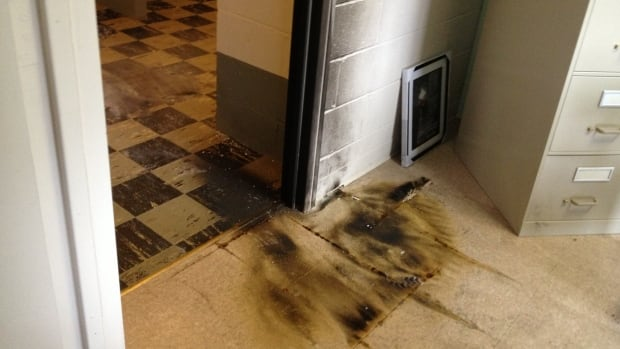 There is little damage after cardboard was lit on fire overnight at St. Andrew's United Church in Halifax.