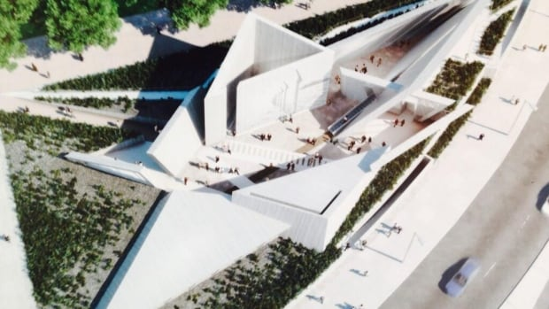 "The National Holocaust Monument will depict ""a star created by six triangular volumes at each of its points organized around a large gathering space for ceremonies,"" says a media release about the project."