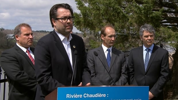 Quebec Environment Minister David Heurtel says it will take time and money to return the Chaudière River to its original state, but he says the province is committed.