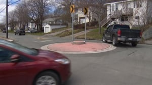Old Topsail Road mini roundabout