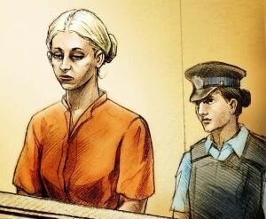 Courtroom sketch of Karen Fyfe