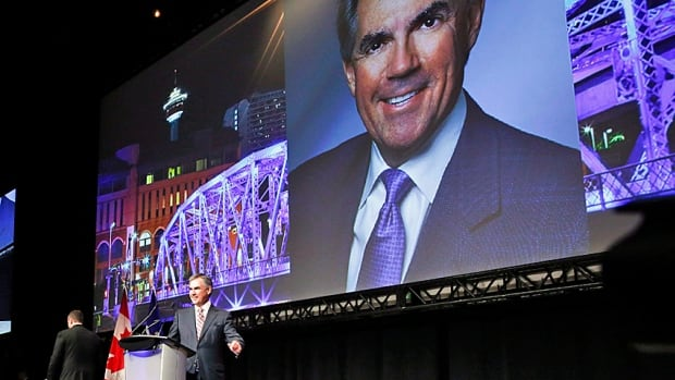 And this was just the teaser: former federal environment minister Jim Prentice speaks at the Alberta PC Party Leader's Dinner on Thursday. He is widely expected to enter the leadership race any day now.