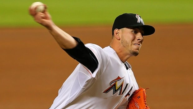 Marlins ace pitcher Jose Fernandez has a significant tear in his right elbow. The 2013 NL rookie of the year has a 4-2 record and 2.44 earned-run average in eight starts this season.