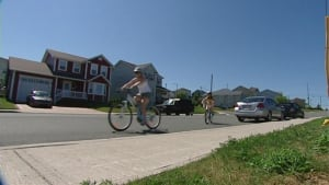 Bicycle lanes in St. John's