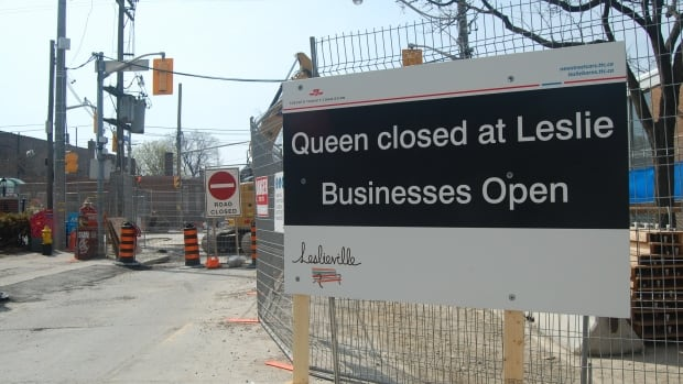 Businesses are open but not optimistic about the summer construction along the street.