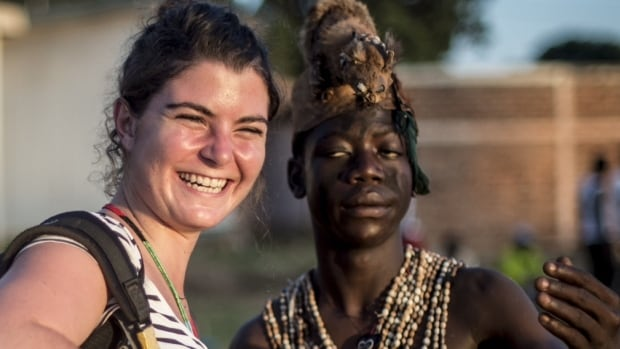 French photojournalist Camille Lepage, pictured left in 2013 in the Central African Republic, was killed while covering the deteriorating situation in the country.