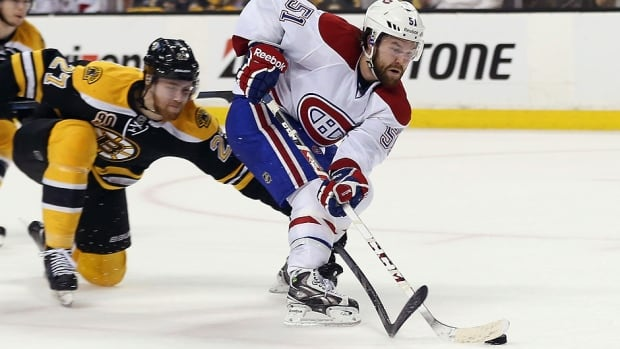 "David Desharnais and his Canadiens teammates would prefer skating by the Bruins in Game 7 Wednesday rather than getting caught up in a physical battle. ""You can't beat the Bruins playing like the Bruins,"" says Montreal forward Daniel Briere. ""I think they're probably the best at [physical hockey]."""