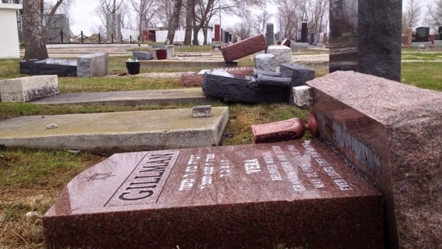 Vandals caused $40,000 to $60,000 damage to headstones at the Hebrew Sick Benefit Cemetery.