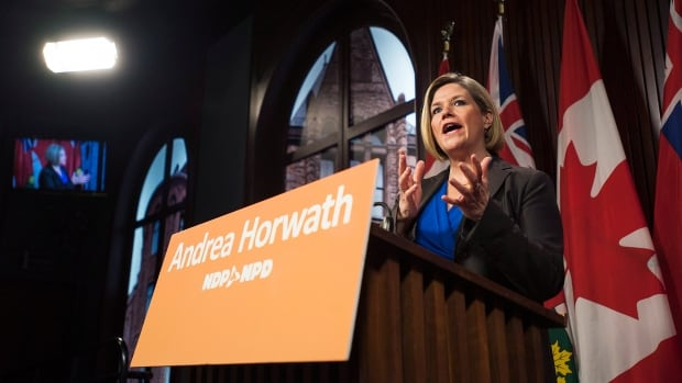 "Andrea Horwath says her 'savings and accountability"" minister would be to find cuts of 0.5 per cent in spending."