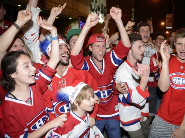 Habs fans celebrate