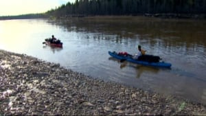 German paddlers in the Hay River
