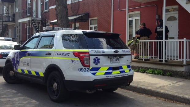 Montreal police are at a home in Villeray, where an 81-year-old woman was found dead on Thursday.